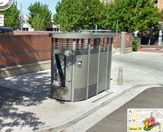 """Portland Loo: """"Why Portland's Public Toilets Succeeded Where Others Failed."""" In brief, they were built defensively. The problem with other attempts was that they tried """"to be comfortable and private [which] makes people feel more empowered to do the illegal activities that people do in public toilets,"""" explains a staffer for city commissioner Randy Leonard, """"the spiritual godfather of the Portland Loo."""" Caption from link"""