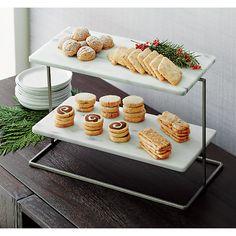 Tapas, Tiered Server, French Kitchen, Küchen Design, Kitchen Essentials, Breakfast Nook, Snack, Serving Platters, Crate And Barrel