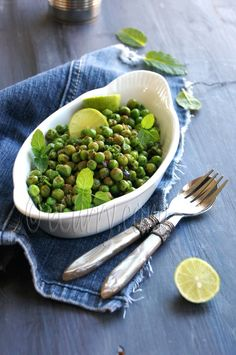 peas with Chaat Masala