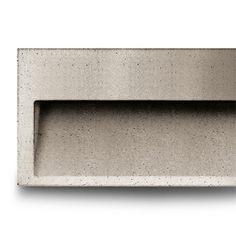 Concrete wall lighting by Simes