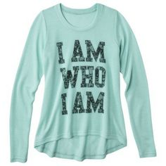 Target/ I Am Who I Am Graphic Sweater - Mint Green