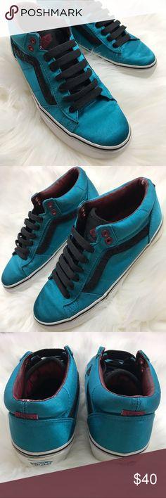 976d6c5668df Vans RARE Omar Hassan Teal Satin Skate Shoes Vans RARE Omar Hassan La  Cripta Dos teal