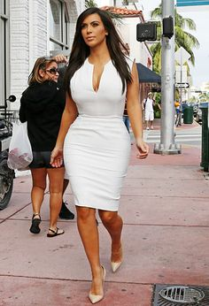 The Kardashians' Best White-Hot Fashions: Kim Kardashian