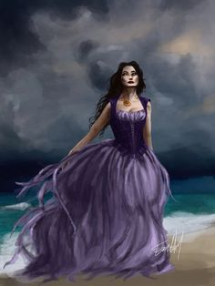 Original design for Vanessa , Ursula's human form, from Disney's little mermaid Vanessa Little Mermaid, Little Mermaid Art, Disney Little Mermaids, Ursula Human, Evil Disney, Disney Villains, Costume Design, Fairytale, Ball Gowns