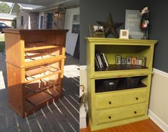 I have a dresser that the top two drawers are broken. This would be a great way to repurpose it!!