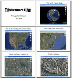 Elementary Technology Lessons: Google Earth- This Is Where I Live