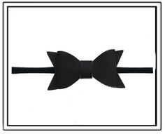Baby Bling Black Leather Bowtie Skinny Headband-baby bling black leather bow tie skinny headband,baby toddler little girl headbands,pantyhose materi