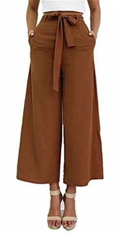 Special Offer: $18.79 amazon.com Capris length palazzo pants create a practical but stylish style which can be worn at anytimeWear for school, movie nights, work, casual outtings, dates, holiday get togethers, and more100% PolyesterLightweight, soft, comfortable and very cool fabricCapris...