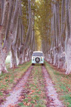 Foto gemaakt door Renske Borst, VW busje, vakantie in Zuid-Frankrijk