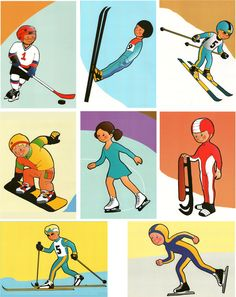 Tananyag a témában - téli sportok tél: madáretetés, hógolyózás спорт, зимни Olympic Idea, Olympic Games, Sports Day Poster, Vive Le Sport, English Worksheets For Kids, Winter Activities For Kids, Preschool Education, Drawing Projects, Winter Olympics