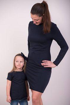 Tmavomodré šaty  #detskamoda#jedinecnesaty#handmade#originalne#slovakia#slovenskydizajn#móda#šaty#original#fashion#dress#modre#ornamental#stripe#dresses#vyrobenenaslovensku#children#fashion#rucnemalovane High Neck Dress, Dresses, Fashion, Turtleneck Dress, Vestidos, Moda, Fashion Styles, The Dress, Fasion