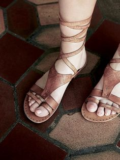 Free People Oliviera Wrap Sandal at Free People Clothing Boutique (desat)