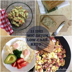 11+ idei de mic dejun low-carb/keto - Nutriblog Interior Paint Colors For Living Room, Low Carb Keto, Guacamole, Cobb Salad, Bacon, Healthy Recipes, Healthy Food, Ethnic Recipes, Makeup