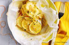 Zitronen-Kabeljau mit Erdäpfelpüree und Chicorèe-Fenchel-Salat