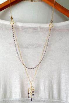 Hey, I found this really awesome Etsy listing at https://www.etsy.com/listing/181480028/multi-layer-necklace-iolite-water