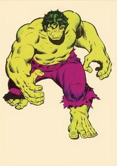 Hulk by Sal Buscema Marvel Comics Superheroes, Hq Marvel, Marvel Comic Universe, Marvel Heroes, Comic Book Characters, Comic Character, Comic Books Art, Comic Art, Hulk Comic