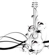 music guitar tattoo 1
