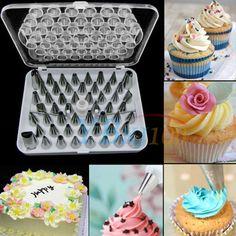 52pcs Cream Icing Piping Nozzles Set Kit Pastry Tips DIY Cake Decorating Tool AU  | eBay