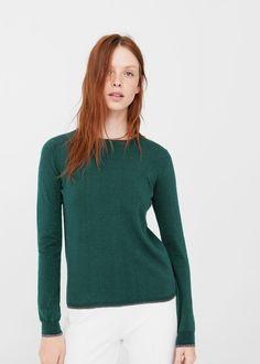 Metallic details sweater   MANGO
