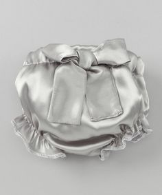 Take a look at this Gray Bow Ruffle Diaper Cover by Caught Ya Lookin' on #zulily today!
