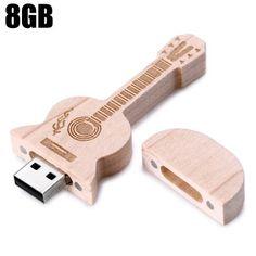Llévalo por solo $16,000.2.0 Flash Drive de memoria del palillo del disco de U madera de la guitarra del estilo de 8 GB USB.