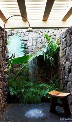If we ever have an outdoor shower, I want it to look like this