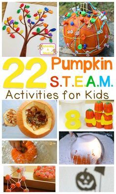 Pumpkin STEM Activities That Will Make Science Fun Bring fall pumpkins into the classroom or your homeschool with this STEAM-focused pumpkin theme unit study! Kids will love these pumpkin STEM activities. Pumpkin Stem, Pumpkin Crafts, Steam Pumpkin, Pumpkin Faces, Pumpkin Ideas, Steam Activities, Kindergarten Activities, Preschool Projects, Science Projects