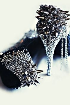 Suffer For Fashion Spiked Heels. I don't know who makes these but I want them. Id stare at them in my closet and never wear them.