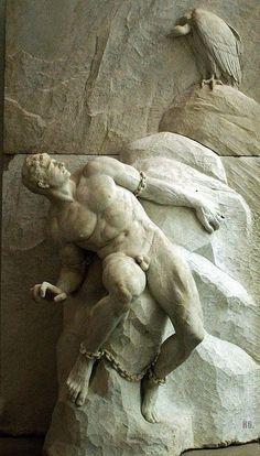Reinhold Begas (German, 1831-1911),Prometheus, 1900. Marble.