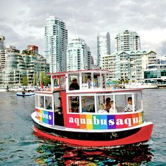 Aquabus Ferries Ltd., Vancouver, British Columbia — by Intrepidor. You can't not have fun on the Aquabus. It's the premier (and most colorful) mode of transport across False Creek, the...