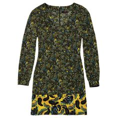"""A psychedelic paisley shealth expresses how wild at heart you are!• Green and yellow patterned• 100% polyester; imported.• 36"""" L from shoulder to hem (on medium)"""