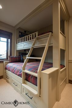 Children's Bunk Room in Park City, Utah by Cameo Homes Inc.  Park City Home Builders.