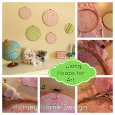 homey home design: Using Hoops as Art