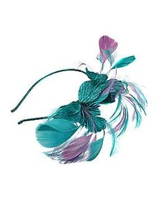 Blue feather fascinator