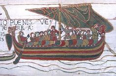 September 28, 1066: The Norman Invasion Begins. William the Conqueror landed on British soil on this date, and got a good start before King Harold could get back from his battle in the North. This scene from the Bayeux Tapestry depicts the landing of the Normans.