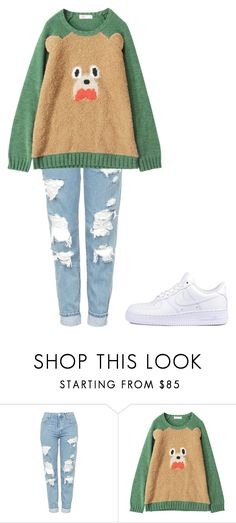 """""""Untitled #1708"""" by telletubbies ❤ liked on Polyvore featuring Topshop and NIKE"""