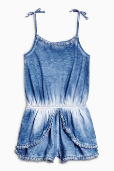 Buy Blue Fringe Playsuit from the Next UK online shop Latest Fashion For Women, Kids Fashion, Fashion Design, Kids Outfits, Summer Outfits, Summer Clothes, Girls Rompers, Playsuit, Kids Girls