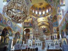 The newly finished church on Kefalonia at the monastery of St. Gerasimos