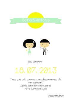 Invitacion de boda Parties ON TOP! - wedding