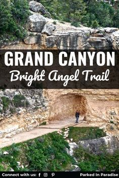 Hiking The Grand Canyon Bright Angel Trail. List of turnaround points and campgrounds to help plan an amazing trip with kids. Great guide with what to expect from hiking this South Rim trail. Stunning Grand Canyon hike that reaches the Colorado River. Grand Canyon Hiking, Bright Angel Trail, Indian Garden, Backpacking, Camping, Stay Overnight, Colorado River, Round Trip, Day Trip