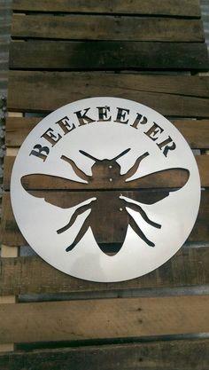 Beekeeper sign metal honeybee sign by MetalworksInd on Etsy #beekeeping #raisingbees