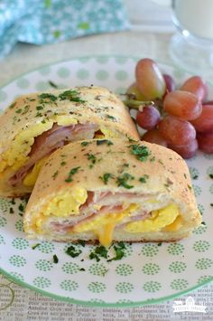 Breakfast Rolls | I use crisped & crumbled bacon and Gruyere cheese. YUM!