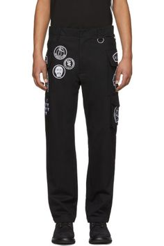 KTZ - Black Scout Patches Military Trousers