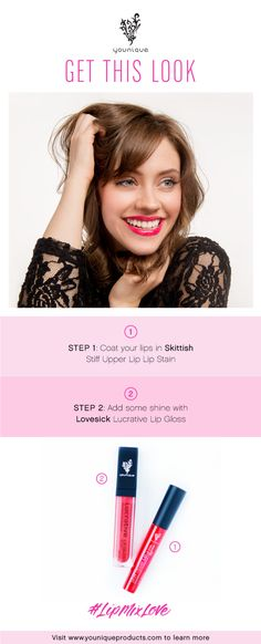 Have fun mixing Stiff Upper Lip Lip Stains and Lucrative Lip Gloss, then share the love using #LipMixLove.