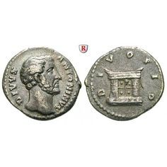 Römische Kaiserzeit, Antoninus Pius, Denar nach 161, ss+: Antoninus Pius 138-161. Denar 18 mm nach 161 Rom. Kopf r. DIVVS ANTONINVS… #coins