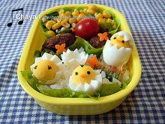Chicks hatching bento | by Chaya!