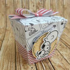 Caixa sushi Snoopy  Papel 180 gramas