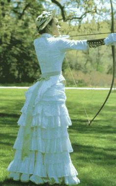 May's Archery Dress - The Age of Innocence
