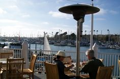 The views from the second story patio of the Lighthouse Oyster Bar and Grill are great! #Oceanside #LighthouseOysterBarandGrill