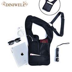 Travel Anti-Theft Safety Hidden Underarm Holster Shoulder Bag Outdoor Sport Storage Bag For Passport Note Coin Key Pen Phone Pad